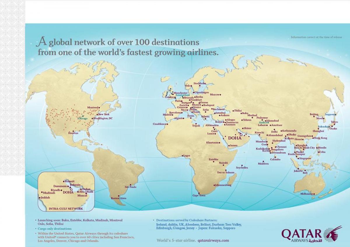 kart rute Qatar rute   Qatar fly ruter, kart (Vest Asia   Asia) kart rute